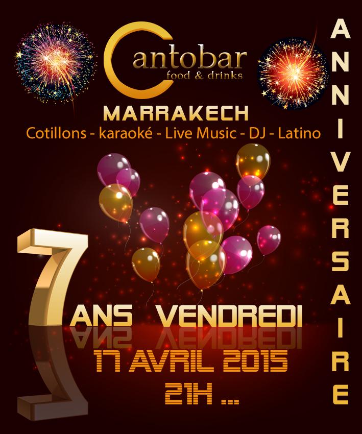 Cantobar Marrakech 7 ans